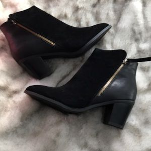 Shoedazzle New Keke Ankle Boot Booties Black 11